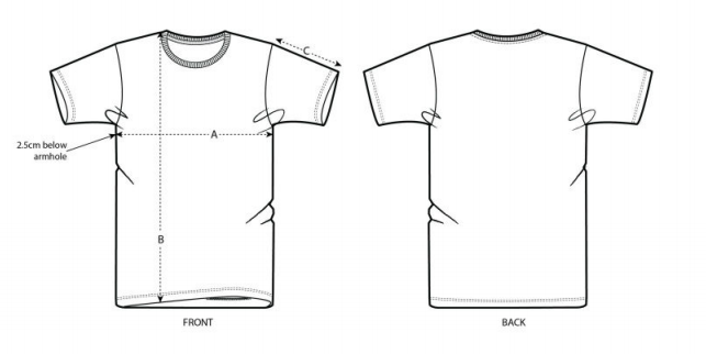 taille du t-shirt bio