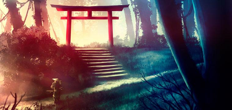 samourai dans la nature