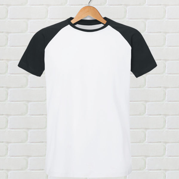 tshirt baseball noir